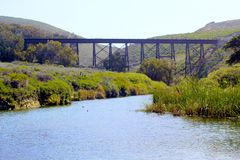 Train bridge Jalama Beach Lompoc California Royalty Free Stock Photography