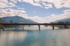 Train Bridge Landscape, Revelstoke Royalty Free Stock Photography
