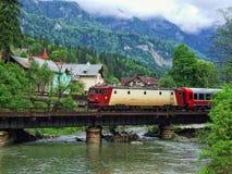 Train on a bridge Royalty Free Stock Image