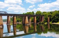 Train Bridge Over A River Stock Images