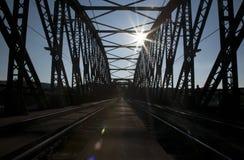 Train bridge. The train bridge over the river Stock Photos