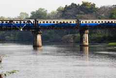Train on Bridge over River Kwai Stock Photos