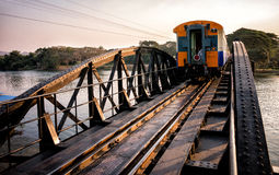 Bridge over the River Kwai. Train on the Bridge over the River Kwai Royalty Free Stock Image