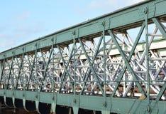 Train bridge. A photo of a metal train bridge Stock Photo
