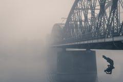 Train Bridge Prague stock photo