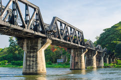 The train Bridge of the River Kwai in thailand. Stock Images