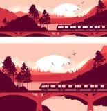 Train bridge river Royalty Free Stock Images