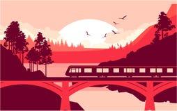Train bridge river Royalty Free Stock Photo