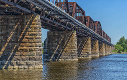 Train bridge Royalty Free Stock Image