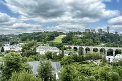 Train Bridge and the Surrounding Area of Royalty Free Stock Photos