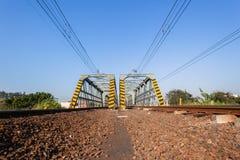 Train Bridges Steel Structure Stock Photo