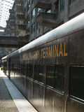 Train at the Brooklyn Army Terminal on Open House New York Weeke Royalty Free Stock Photography