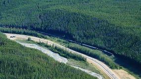 Train in Canada Stock Photo