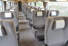 Train car. Business class seat Royalty Free Stock Photos