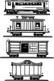 Train Car Collection Stock Photos