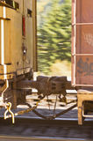 Train car coupling Royalty Free Stock Photos