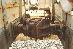 Train Car Linkage Royalty Free Stock Photos