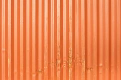 Train cargo container. S. Orange metal transport container texture Royalty Free Stock Images