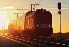 Train cargo in railroad Royalty Free Stock Photography