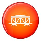 Train cargo wagon icon, flat style Stock Photos