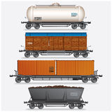 Train Cargo Wagons Royalty Free Stock Photo