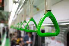 Train Carriage Handle. A handle for passengers in a Seoul subway train carriage Stock Photography