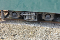 Train carriage wheel structure Royalty Free Stock Image