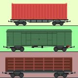 Train carriages car railway without striping travel railroad passenger locomotive vector wagon transport. Royalty Free Stock Photo