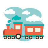 Train and Carriages. An illustration of a train with carriages Stock Photo