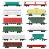Train carriages vector set. Stock Photos