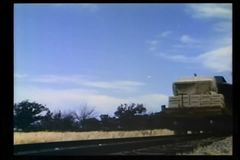 Train carrying boxes of dynamite stock video footage