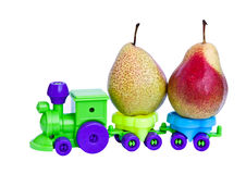 A train carrying fruit. Stock Images