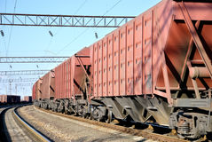 The train with cars for dry cargo Royalty Free Stock Photography