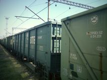Train cars Royalty Free Stock Image