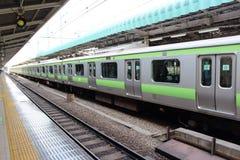 Train cars  at Tokyo train Station Stock Photos