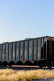 Train cars on the tracks Royalty Free Stock Image