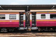 Train cart from central terminal at Bangkok Stock Images