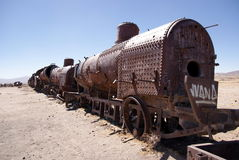 Train cementary, Uyuni, Bolivia Royalty Free Stock Photography