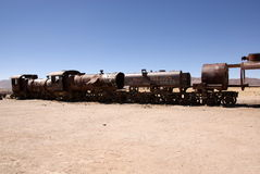 Train cementary, Uyuni, Bolivia Royalty Free Stock Photo