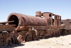 Train cementary, Uyuni, Bolivia Royalty Free Stock Photos