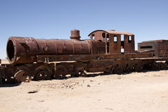 Train cementary, Uyuni, Bolivia Stock Photography