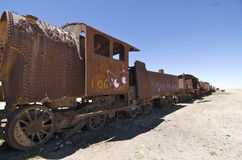 Train Cemetary in Uyuni, Bolivia Stock Photos