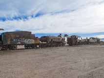 Train cemetery in Bolivia Stock Image
