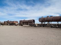 Train cemetery in Bolivia Royalty Free Stock Images