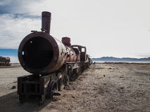 Train cemetery in Bolivia Stock Photography