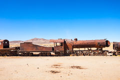 Train Cemetery, Bolivia Royalty Free Stock Images