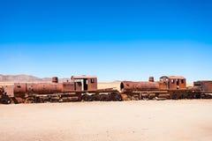 Train Cemetery, Bolivia Royalty Free Stock Image
