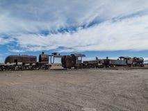 Train cemetery in Bolivia Royalty Free Stock Photo