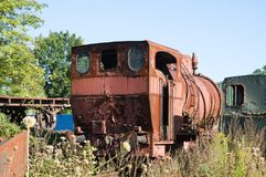 Train cemetery in mine museum Royalty Free Stock Images