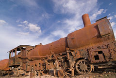 Train Cemetery at Uyuni, Bolivia. Royalty Free Stock Photography